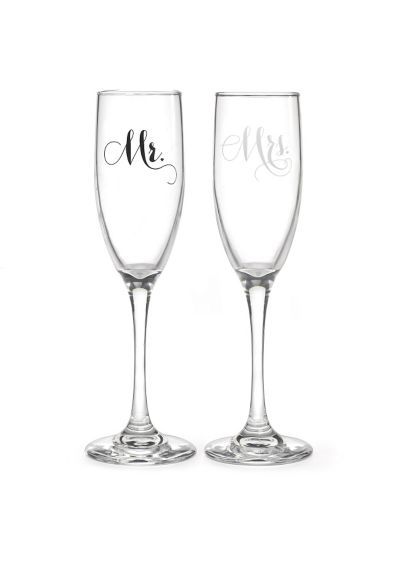 Mr and Mrs Elegant Toasting Flute Set DBK34989