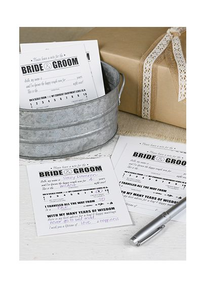 Notes for Bride and Groom Set of 50 DBK35707
