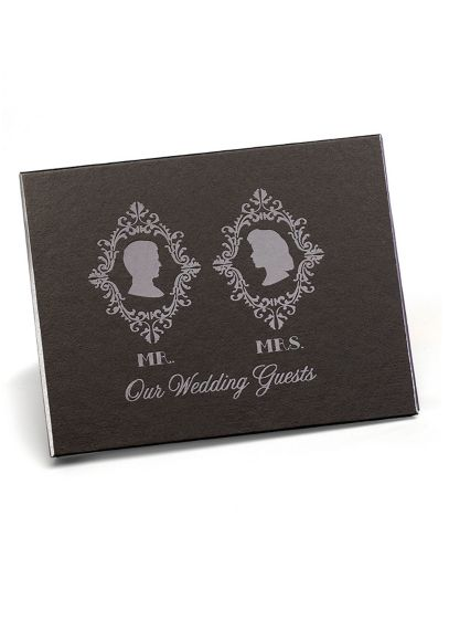 (Vintage Silhouette Guest Book)