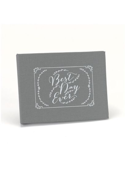 Grey (Rustic Vines Best Day Ever Guest Book)