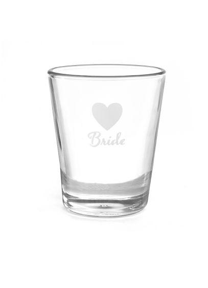 White (Bride Heart Wedding Party Shot Glasses)
