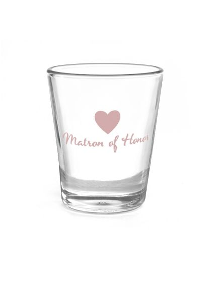 Matron of Honor Heart Wedding Party Shot Glasses - Wedding Gifts & Decorations