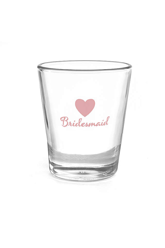 Bridesmaid Heart Wedding Party Shot Glasses - It's time to celebrate and toast the bride