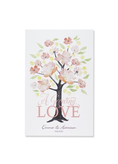 Personalized Floral Forever Guest Book Alternative - Wedding Gifts & Decorations