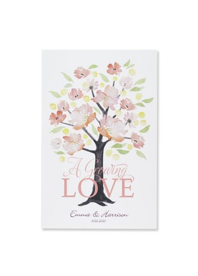Personalized Floral Forever Guest Book Alternative DBK38836P