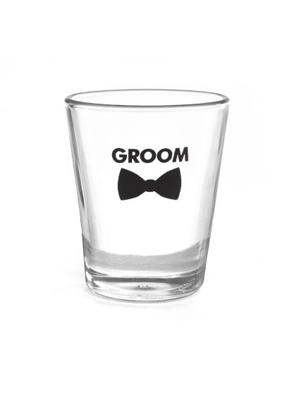Groom Bow Tie Wedding Party Shot Glasses DBK38840