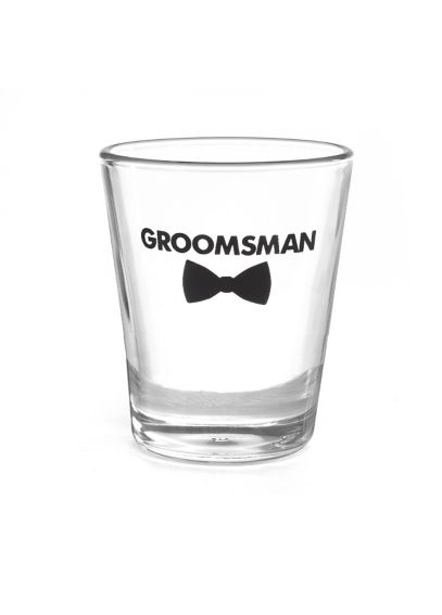 Groomsman Bow Tie Wedding Party Shot Glasses DBK38850