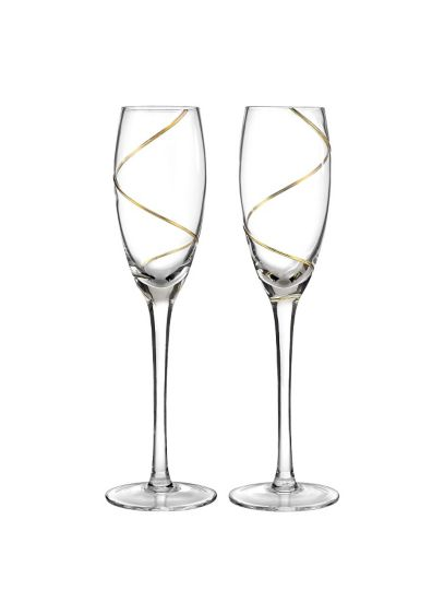 Personalized Gold Swirl Toasting Flutes - Wedding Gifts & Decorations