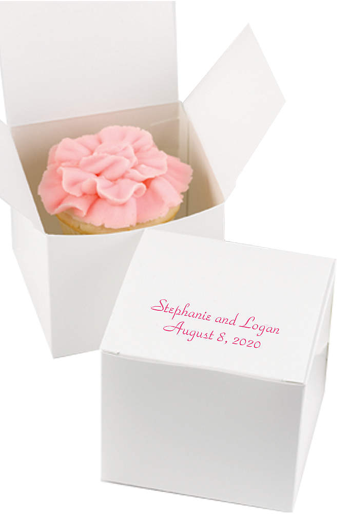 Personalized Design Classic Cake Boxes Pack of 50 - Wrap up cupcakes, pieces of cake or large