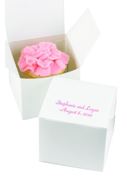 Personalized Design Classic Cake Boxes Pack of 50 - Wedding Gifts & Decorations