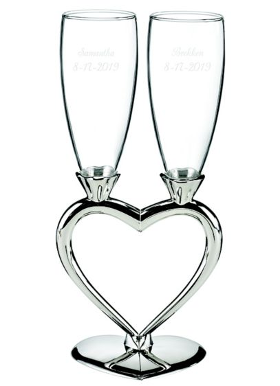 Personalized Heart-to-Heart Flute Set - Wedding Gifts & Decorations