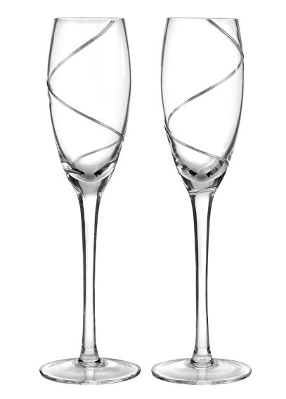 Personalized Platinum Swirl Toasting Flutes DBK7965P
