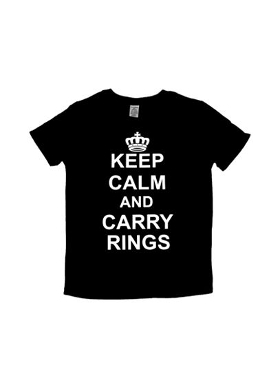 Keep Calm and Carry Rings Ring Bearer Tee - Wedding Gifts & Decorations