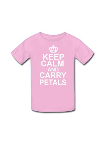Keep Calm and Carry Petals Flower Girl Tee - Wedding Accessories