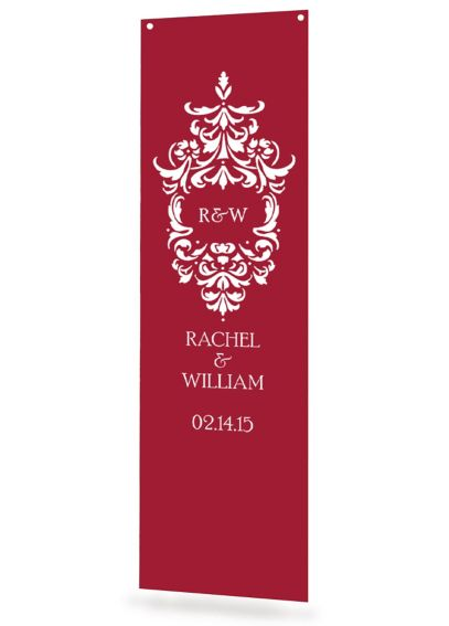 Personalized Damask Monogram Banner DBKX20789P
