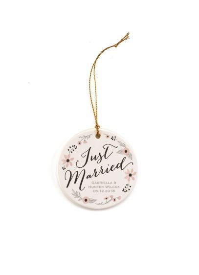 Personalized Just Married Ornament - Wedding Gifts & Decorations