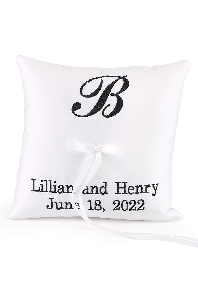 DB Exc Personalized Monogram Ring Bearer Pillow - This truly unique and custom ring bearer pillow