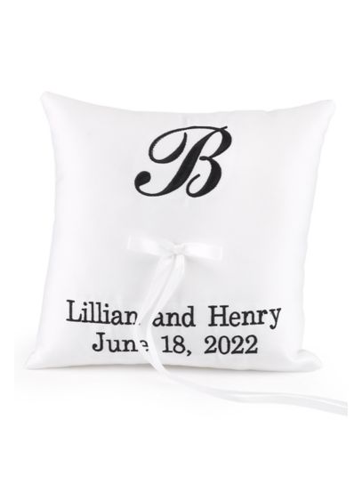 DB Exc Personalized Monogram Ring Bearer Pillow - Wedding Gifts & Decorations
