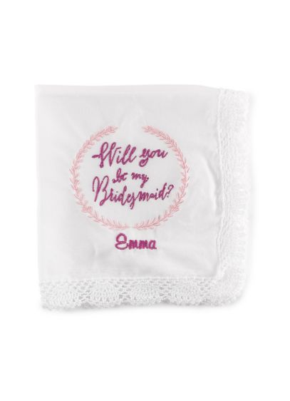 (Personalized Will You Be My Bridesmaid Hanky)