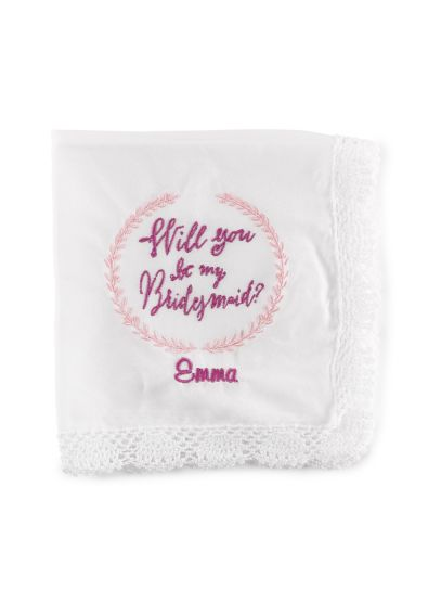 Personalized Will You Be My Bridesmaid Hanky DBKX38821P