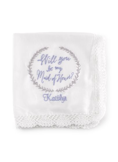 (Personalized Will You Be My Maid of Honor Hanky)