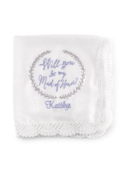 Personalized Will You Be My Maid of Honor Hanky DBKX38822P