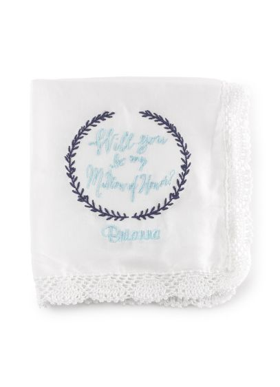 (Personalized Will You Be My Matron of Honor Hanky)