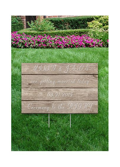 Personalized Wood Grain Yard Sign DBKXZYS02WoodGr