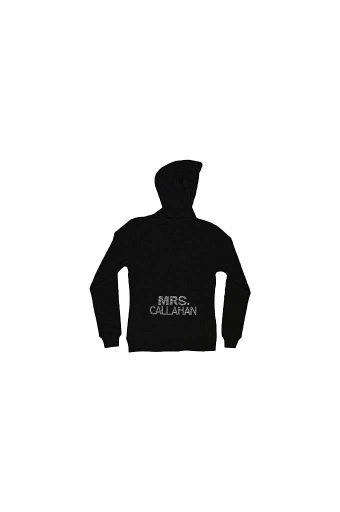 Personalized Multi-Row Rhinestone Mrs. Hoodie - Stunning new Mrs. hoodie/sweatshirt personalized in a big