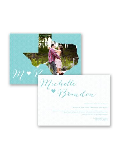 State of Bliss Invitation Sample - Wedding Gifts & Decorations