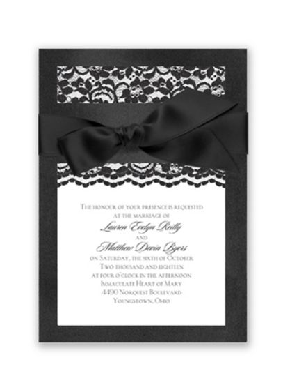 Treasured Jewels Love Lace Invitation Sample - Wedding Gifts & Decorations
