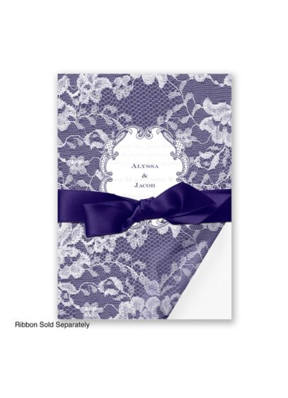 Lace Wrap Invitation Sample - Wedding Gifts & Decorations