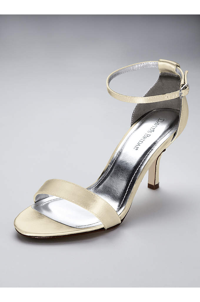 Dyeable Single Strap Satin Sandal - Top off your look with these simply chic