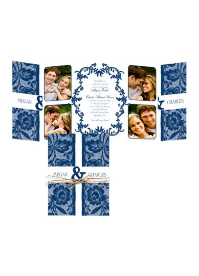 Down Home Lace Invitation Sample - Wedding Gifts & Decorations