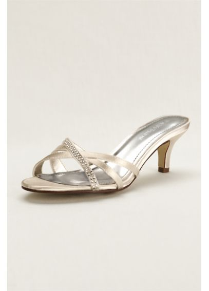 Crystal Embellished Dyeable Low Heel Sandal DBRILEY