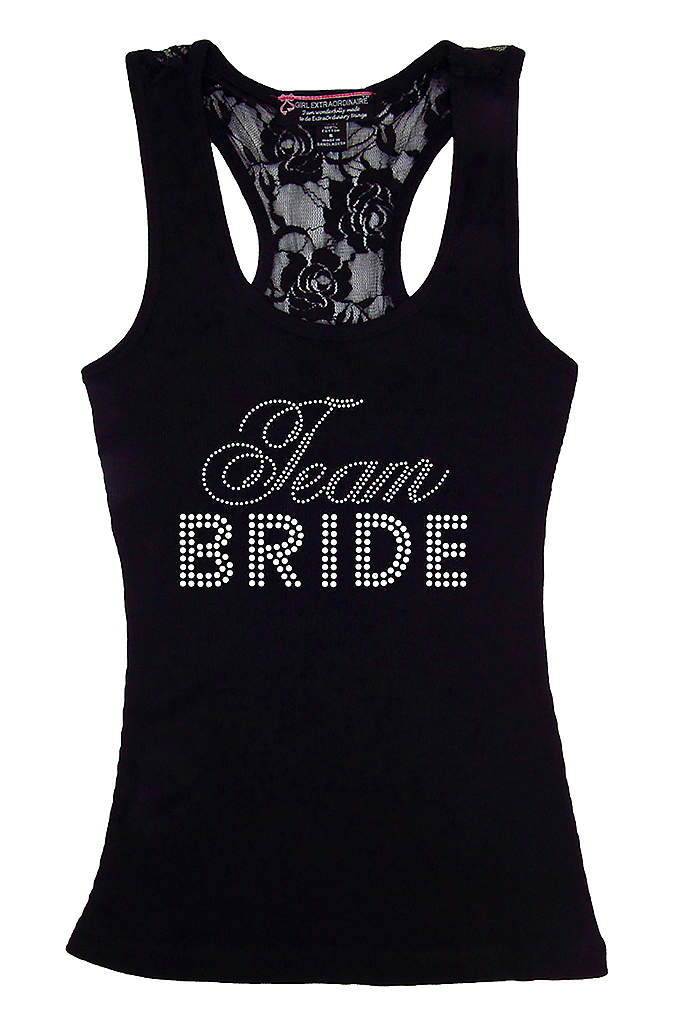 DB Exclusive Lace Team Bride Racerback Tank - Represent the bride with this Team Bride tank