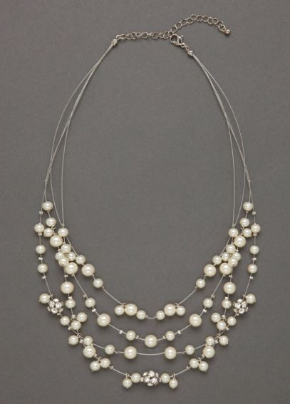 Long Pearl Illusion Necklace DBW-P09195-N01