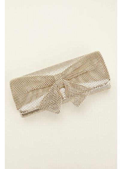 Jessica McClintock Mesh Bow Clutch - Wedding Accessories