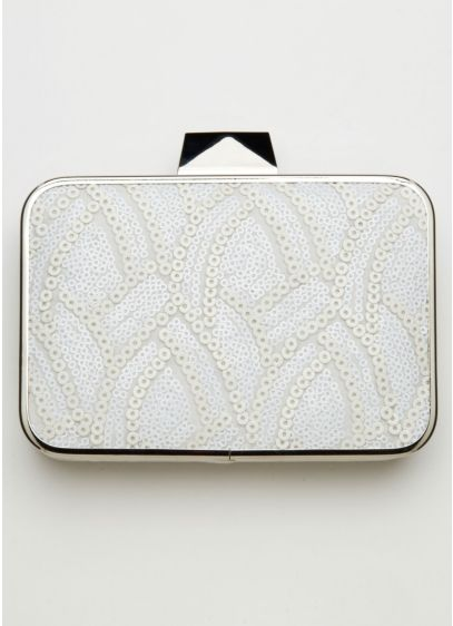 Scalloped Sequin Clutch - Wedding Accessories