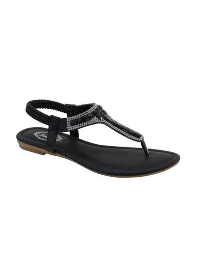 Italina White (Embellished Slingback Sandal with T-Strap)