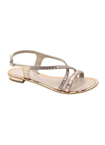 Embellished Cross Strap Slingback Sandal - Wedding Accessories