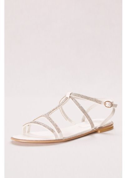 Strappy Crystal T Strap Sandal DF6163