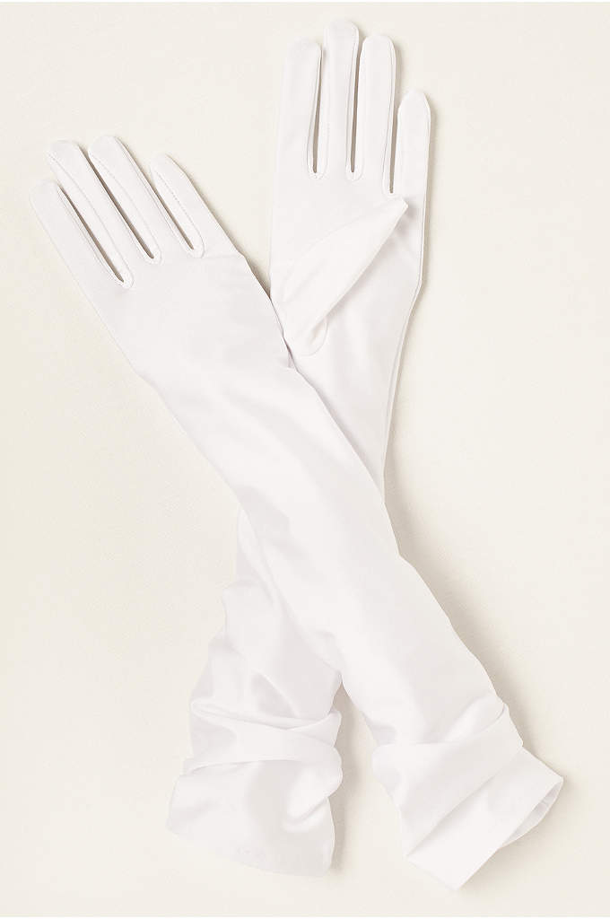 Matte Satin Over-The- Elbow Gloves - These matte-finish, stretch-satin stunners are sure to turn