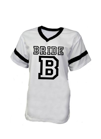 White Bride Football Jersey - Wedding Gifts & Decorations