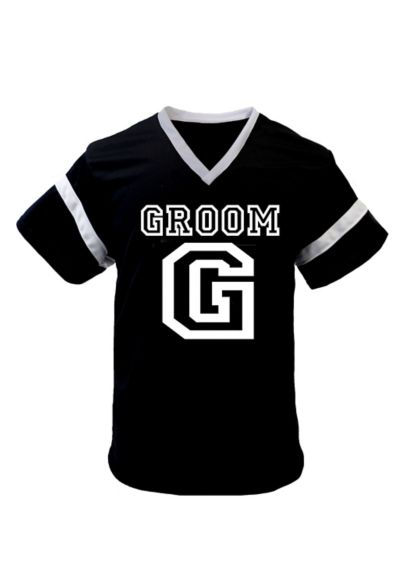 Black Groom Football Jersey - Wedding Gifts & Decorations