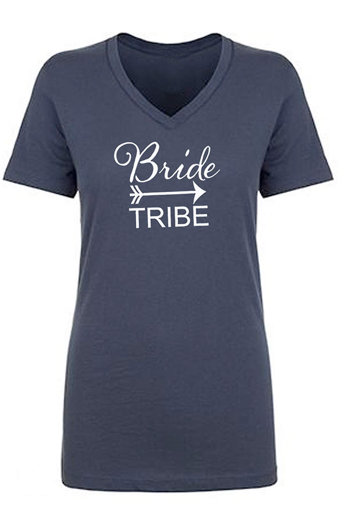 Bride Tribe V Neck Tee - Your girls will look fab and feel comfy