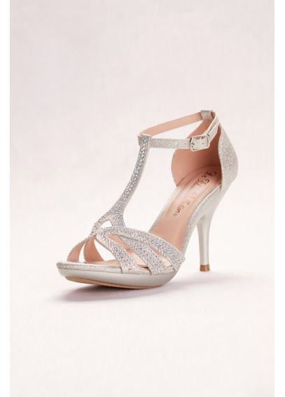 Glitter Embellished High Heel Sandals DLIN145