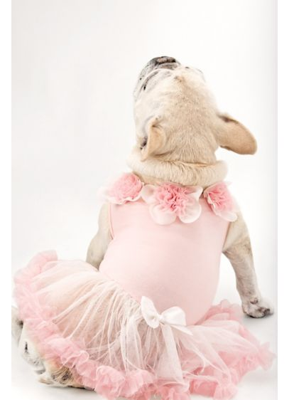 Sweet Floral Trimmed Pink Dog Dress - Wedding Gifts & Decorations