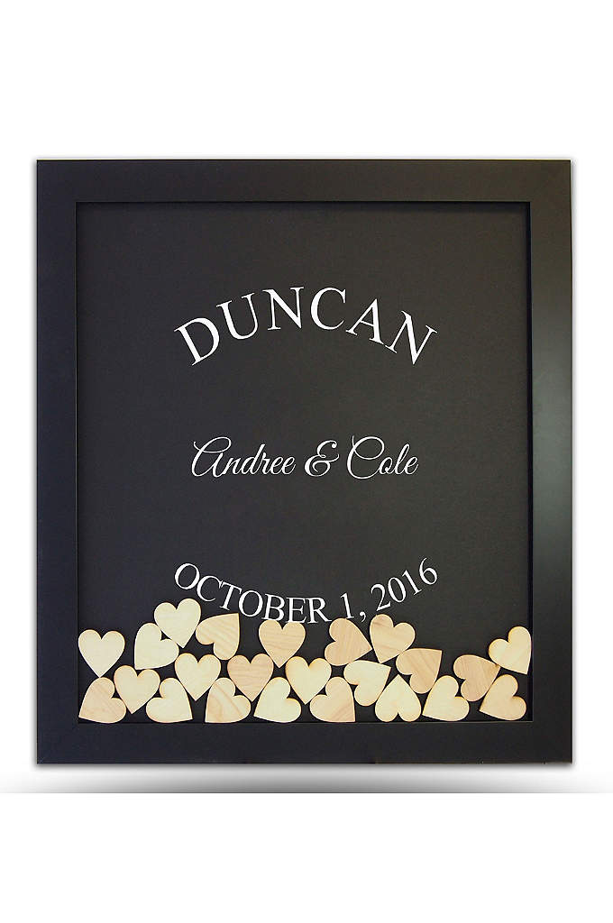Personalized Guest Book Frame For Reception David S Bridal