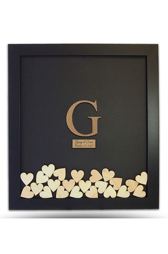 Pers Wooden Letter Drop Heart Guest Book Frame - Have guests sign into your wedding with this